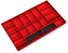 Set of plastic boxes for system drawers 4527