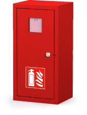Interior cabinets for fire extinguishers 560 x 280 x 220