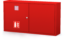 Interior cabinets for fire extinguishers 560 x 1000 x 220