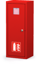 Interior cabinets for fire extinguishers 700 x 280 x 220