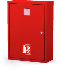 Interior cabinets for fire extinguishers 700 x 500 x 220