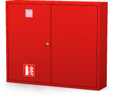 Interior cabinets for fire extinguishers 830 x 1000 x 220
