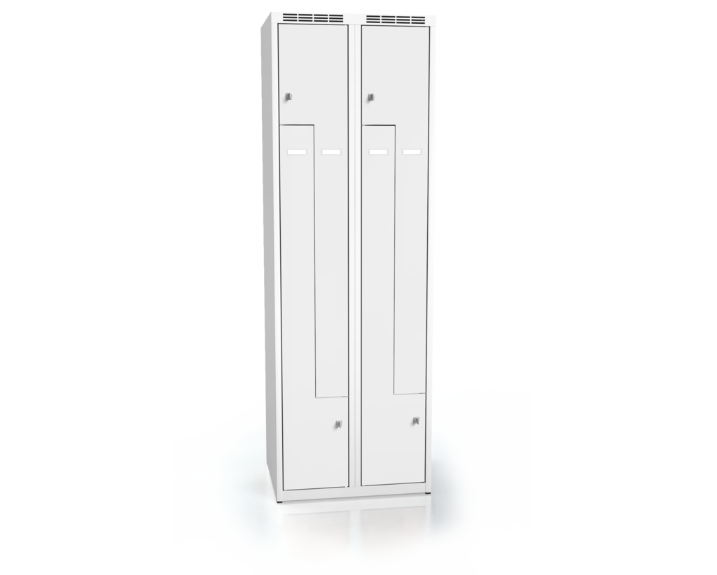 Cloakroom locker Z-shaped doors ALDUR 1 1800 x 600 x 500