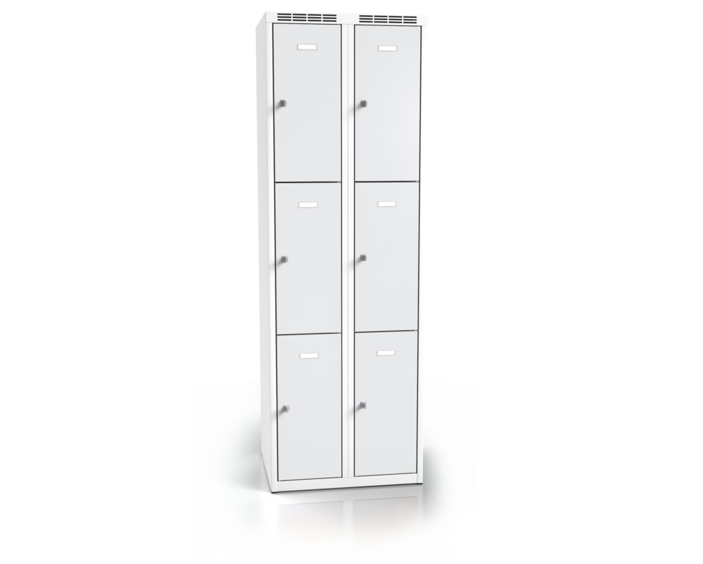 Cloakroom locker with six lockable boxes ALDOP 1800 x 600 x 500